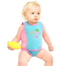 2018 Kids Swimming Vest & jacket Water Safety Products Infant Baby Toddler Wetsuit Wrap Vest  Beach Pool Warm Swimwear Swimsuit