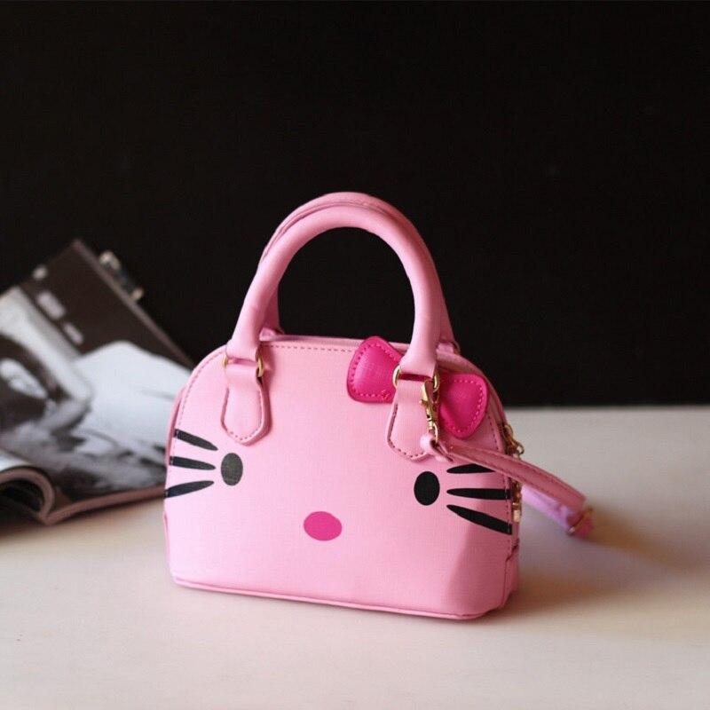Искусственная кожа с рисунком «hello kitty» Детская одежда с рисунком школьные сумки детей дорожная сумка-мессенджер телефон сумка для детского...
