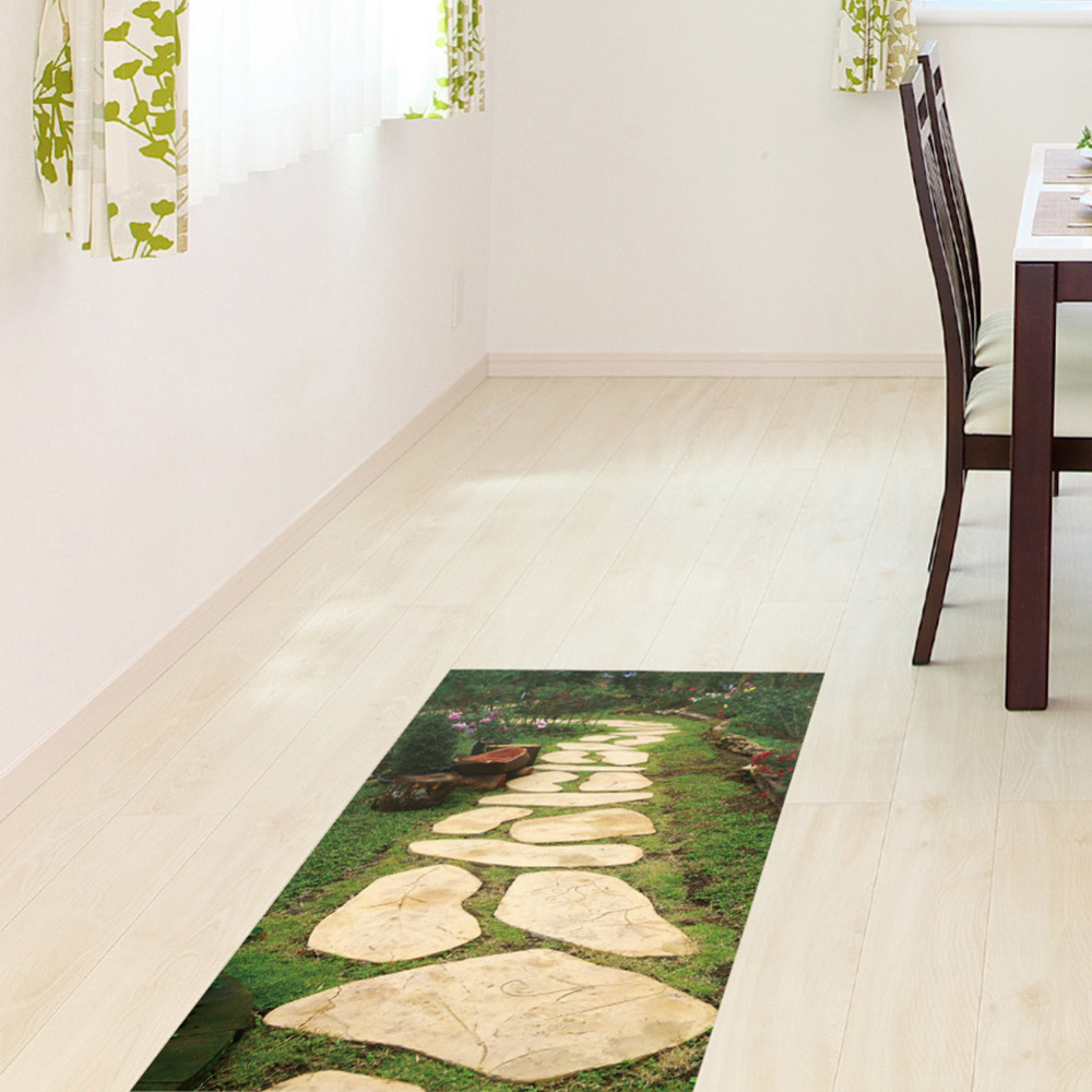 Removable 3D Floor Stickers Decorative Stone Road Pattern Waterproof ...