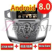 TOPNAVI Octa Core Android 8,0 автомобилей Радио Стерео gps навигации для FORD FOCUS 2012 2DIN разделены DVD мультимедиа аудио плеер
