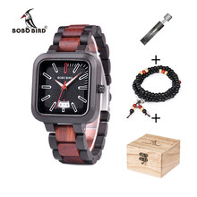 2f0c9ba92d7c BOBO BIRD reloj de madera hombres con estilo relojes de cuarzo Relogio  masculino relojes cronógrafo fecha