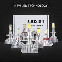 2PCS Car LED Headlights H1 H4 H7 H8 H11 HB3 9005 HB4 9006 60W 2000lm Auto