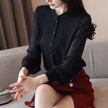 spring long sleeve white blouse