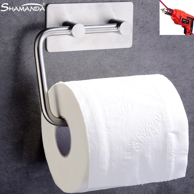 Cheap Price Shamanda Sus 304 Stainless Steel Kitchen Bathroom Towel Dispenser 3m Stick Suction Cup Toilet Paper Holder Polished Finished Back To Search Resultshome Improvement