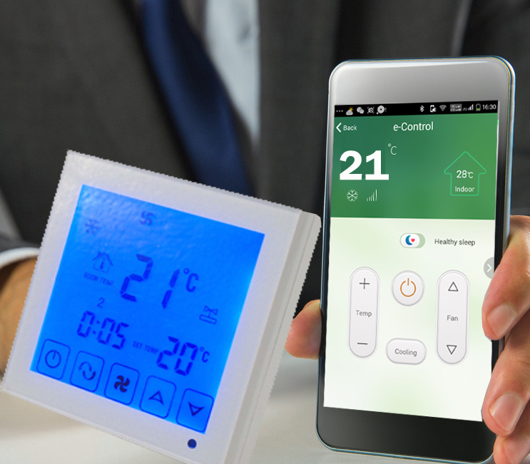 2p 4p phone APP Room temperature controller with universal remote and thermostat infrared remote thermostat temperature controller with heating cooling