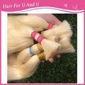 60cm 65cm No silicone Remy Russian Blonde Human Hair Bulk slavic Blonde cuticle bulk without acid  blue brown hair bulk