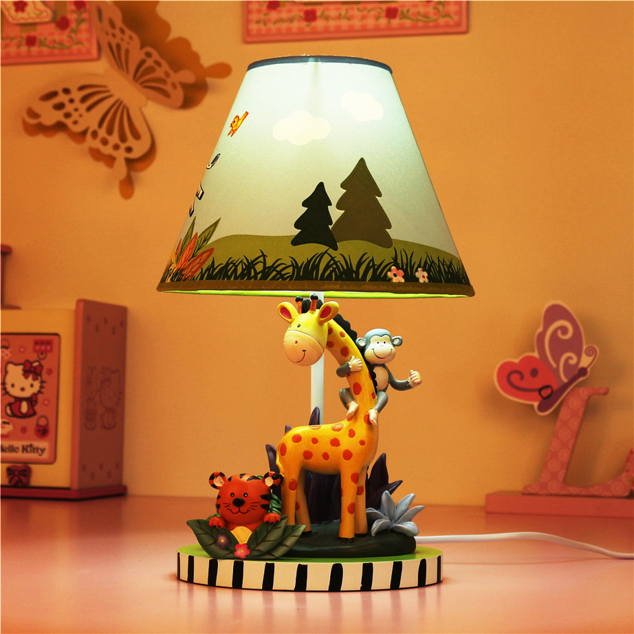 Children's table lamp bedroom bedside lamp creative lovely warm cartoon boy Animal decorative lamp giraffe table light ZA419932 стоимость