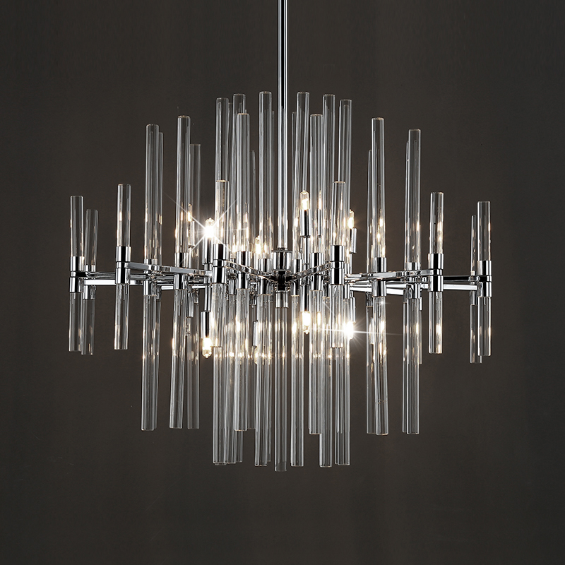 Chrome LED Glass Chandelier Lighting Luxury Living Dining Room Crystal 2