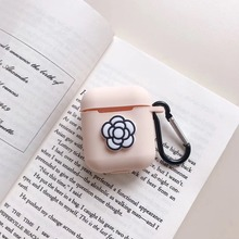 TPU Soft Silicone Bluetooth Wireless Earphone Case For AirPods Charging Box Protective Cover Flower Rabbit Skin