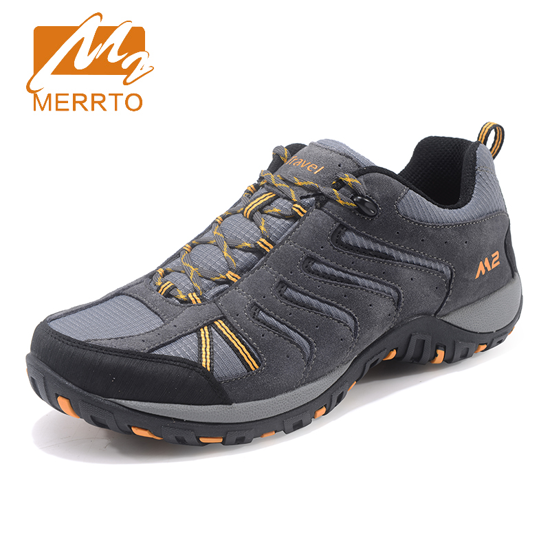 2017 Merrto Mens Outdoor Walking Shoes Non-slip Breathable Climbing Sports Shoes Travel Shoes For Men Free Shipping MT18692 2017 mens hiking shoes breathable rock climbing camping outdoor sports shoes for men army green black free shipping c101
