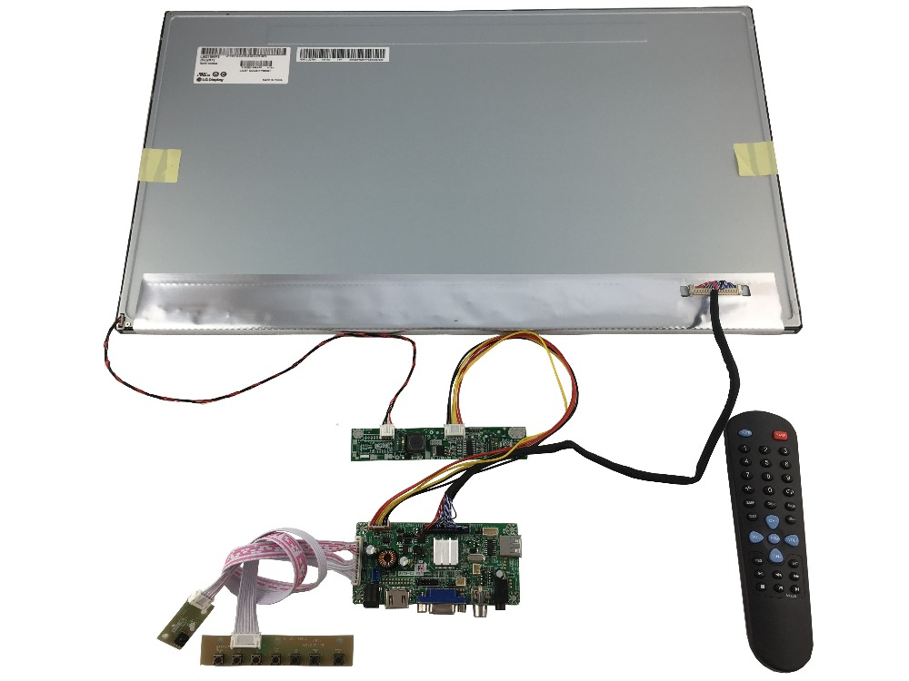 HDMI++VGA +AV +Audio   LCD controller board+21.5  inch IPS LM215WF3-SLK1 (1920*1080) +LVDS cable +OSD keypad +Remote controll vga hdmi lcd controller board for lp156whu tpb1 lp156whu tpa1 lp156whu tpbh lp156whu tpd1 15 6 inch edp 30 pins 1 lane 1366x768