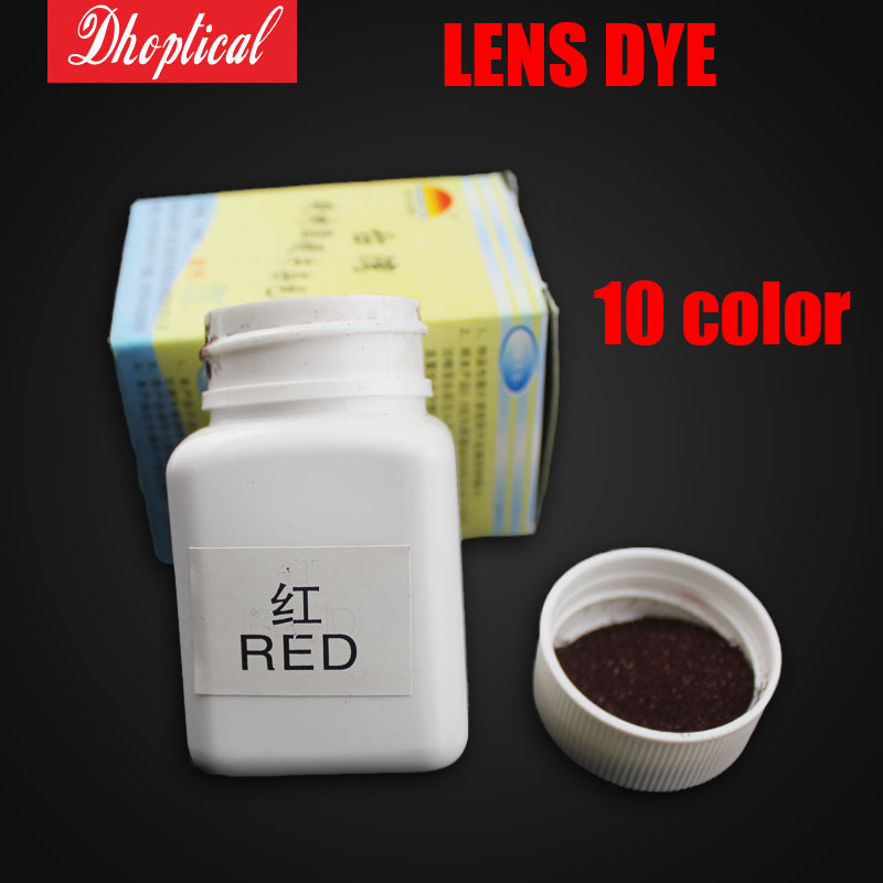 Lens tinting solution dye packets dying tinting material 10 different color several colors for options glasses accessories