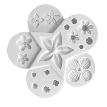 3D Plant A ssemblage Flower Patterns Silica gel Sugar molds DIY Chocolate Cake Decorative Baking Tool