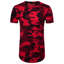 fashion summer long camouflage tshirts men good quality Eu size short sleeve top tees