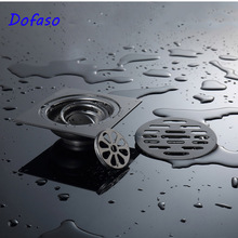 Dofaso Black European floor drain stainless steel Bathroom shower washing machine 10 cm