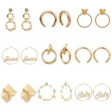 Metal Dangle Earrings Big Geometric Earrings for Women Gold Statement Earrings 2019 Wedding Party Punk Drop Earring Jewelry