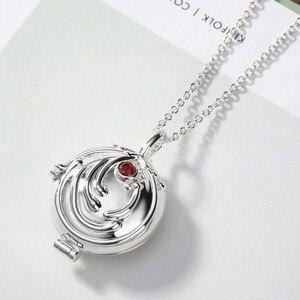 Image 4 - Neoglory colgante de Plata de Ley 925 con zirconia, collar con colgante LARGO DE Elena Nina, diseño de diarios de vampiro, alergia, regalo para mujer