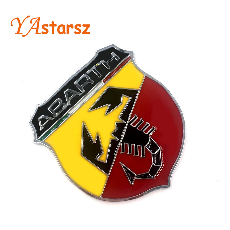 2019 3d 3m Car Abarth Metal Adhesive Badge Emblem Logo Decal Sticker Scorpion For All Fiat Abarth Punto 124125125500 Car Styling From Baba8 239