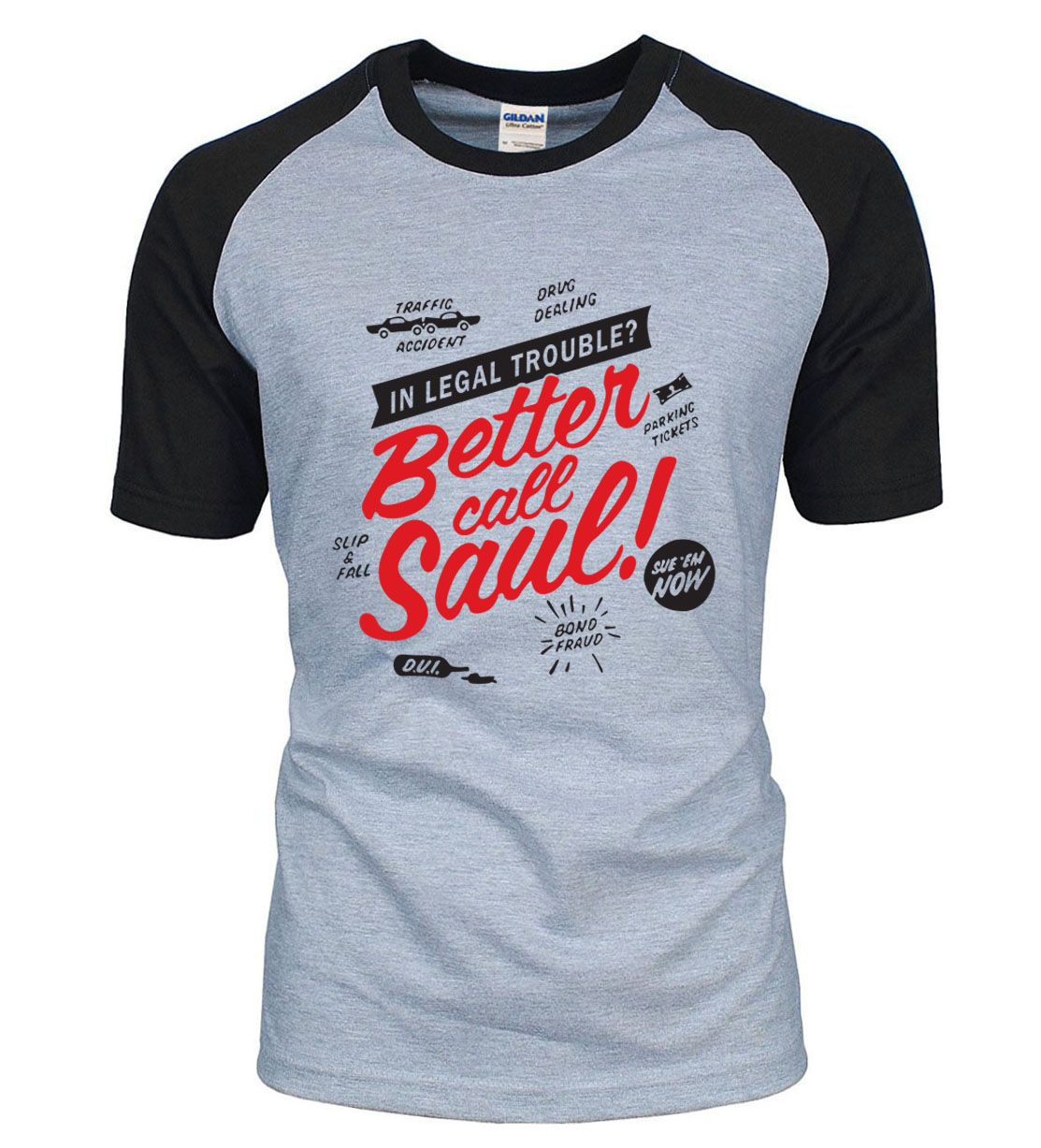 BETTER CALL SAUL letters print Breaking Bad Heisenberg t shirt 2018 new  summer 100% cotton 4a13636758ec
