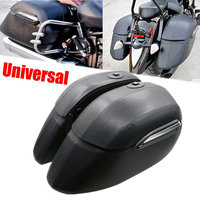 Motorcycle Saddlebag Tail Tool Luggage Saddle Bag for Harley Cruiser Sportster Fatboy Softail FLSTF Honda Yamaha Suzuki Kawasaki
