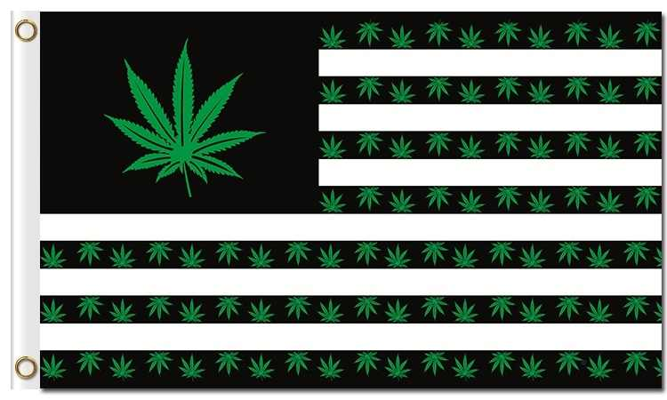 Marijuana Peace Flag 5Ft X 3Ft Cannabis Rasta Bob Marley Banner New