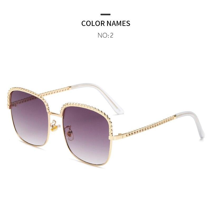 GYKZ 2019 High Quality Square Frame Women Sunglasses Luxury Fashion Summer Sun Glasses Womens Vintage Polarized Eyeglasses