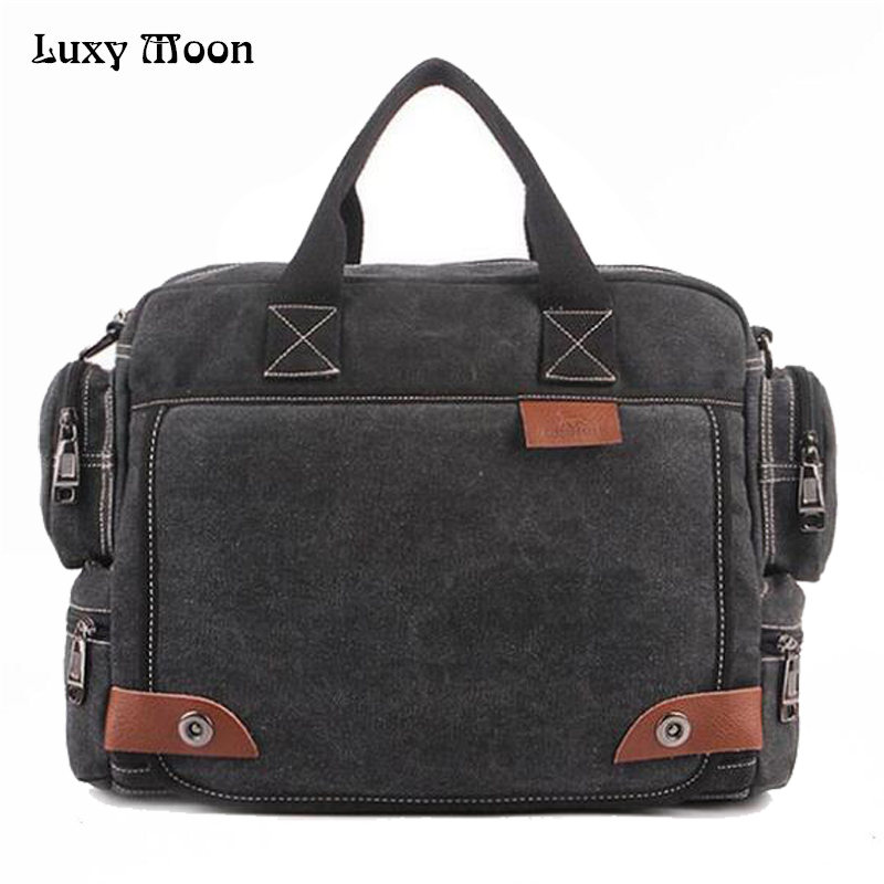 High Quality Multifunction Canvas Bags Men Business bag Casual Handbag men messenger bag brand Quality vintage briefcase w680 high quality casual men bag