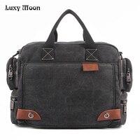 High Quality Multifunction Canvas Bags Men Business bag Casual Handbag men messenger bag brand Quality vintage briefcase w680