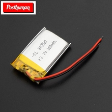 цена на POSTHUMAN For Smart Watch PSP LED Lamp RC 1/2/4x 3 7V Volt Li Po Ion Lipo Rechargeable Batteries 602030 Lithium Polymer Battery