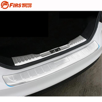 For Ford Focus 2015 2016 2017 Rear Bumper Protector Car Boot Trim Rearguards Adhesive Trunk Guard Sill Plate Scuff Cover