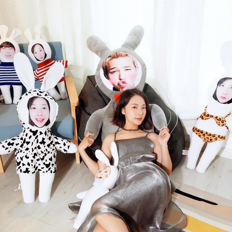 Photo Custom-made Live Bunny Pillow Web Celebrity Dolls Cushion Birthday Gift Girl Creative Home Decoration Sleeping Support