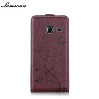 Lamocase Embossing Flip Cover For Samsung J1 Mini 4 0 PU Leather Case For Samsung Galaxy