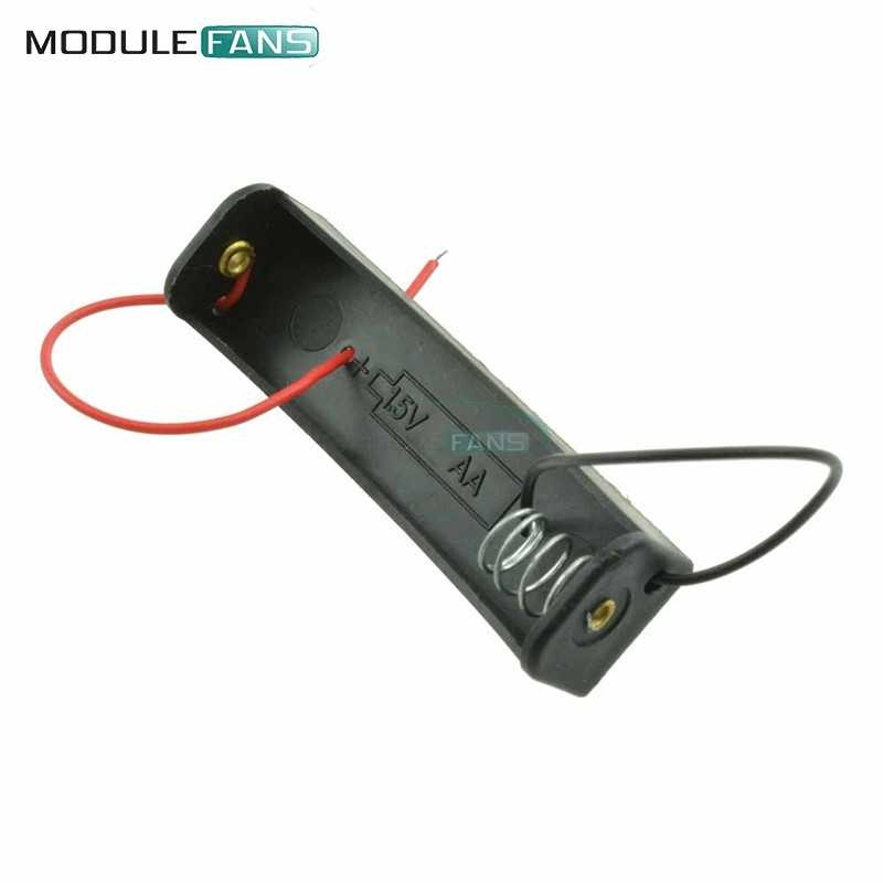 """5PCS DIY AA Battery 1.5V Holder Storage Box Case Shell with 5"""" Lead for DIY Experiment"""