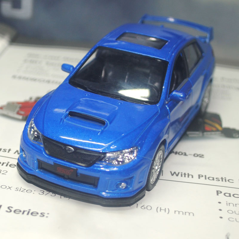 UNI 1/36 Scale Pull Back Car Toys SUBARU Wrx sti Diecast Metal Car Model Toy For Gift/Kids/Collection