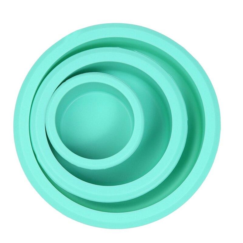 新しい3ピース/セットシリコーンs m lケーキ型ラウンドボウル形状洋菓子金型菓子ベーキングツールフォンダンケーキ飾るツール耐熱皿