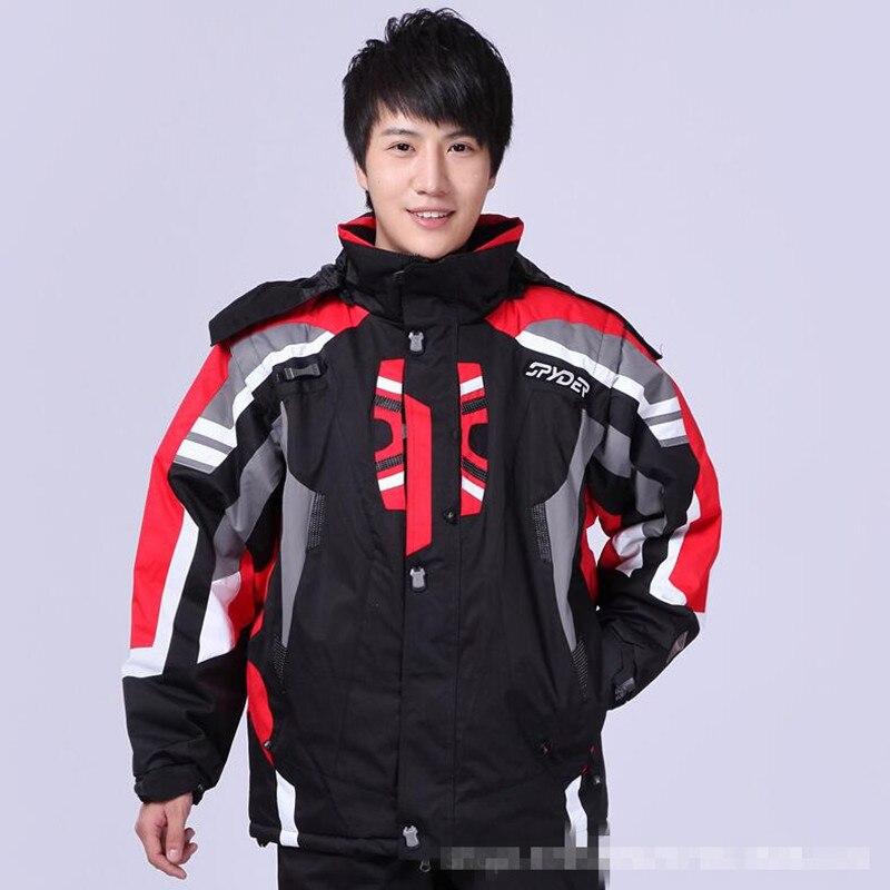 2019 Men's Ski Suit Spider Ski Suit Men's Jacket Waterproof Warm Warm Ski Suit Jacket Windproof Breathable Waterproof Ski Jacket