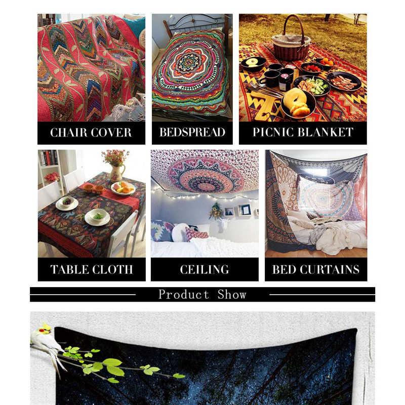 象プリントビーチタオル幾何ツリー印刷装飾ヨガマット曼荼羅タペストリーキャンプテント旅行マットレススリーピングパッド