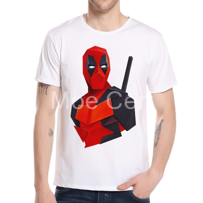 2018 년 여름 신작 Deadpool Men T 셔츠 Casual Mens Street Wear - 남성 의류