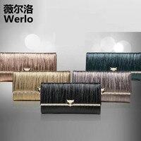 WERLO 2017 New Brand Designer Women Wallets High Quality Genuine Cow Leather Ladies Clutch Wallet For