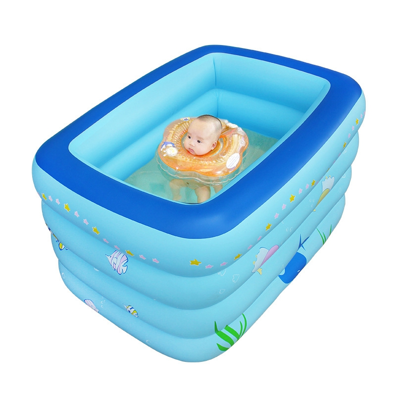 Inflatable swimming pool baby Large warm keeping 4 layers kids ...