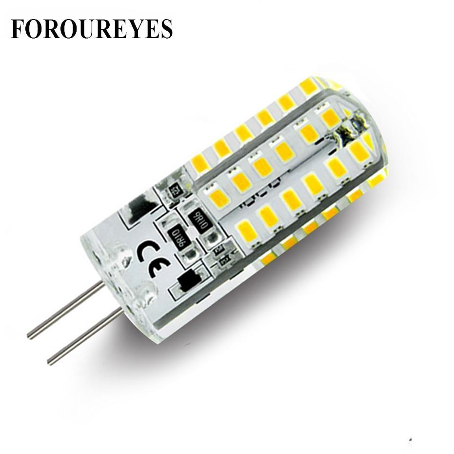 On sale 10pcs a lot G4 LED Lamp 12V 48 LEDS silicone Corn led Bulb crystal chandelier 3014SMD Spotlight White/Warm white Light