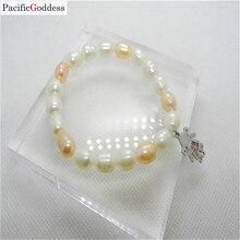 fresh water pearl bracelet Girl stainless steel for girl as best gift
