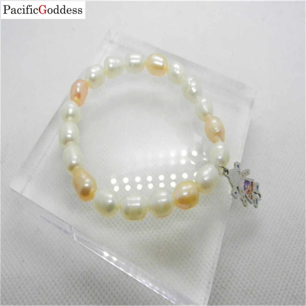 fresh water pearl bracelet Girl pearl bracelet stainless steel bracelet for girl as best gift