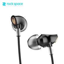 ROCKSPACE Zircon Stereo Earphone Quality Sound Earbud for iPhone In-Ear Earphones Hands Free Headset with Mic Right Angle Plug