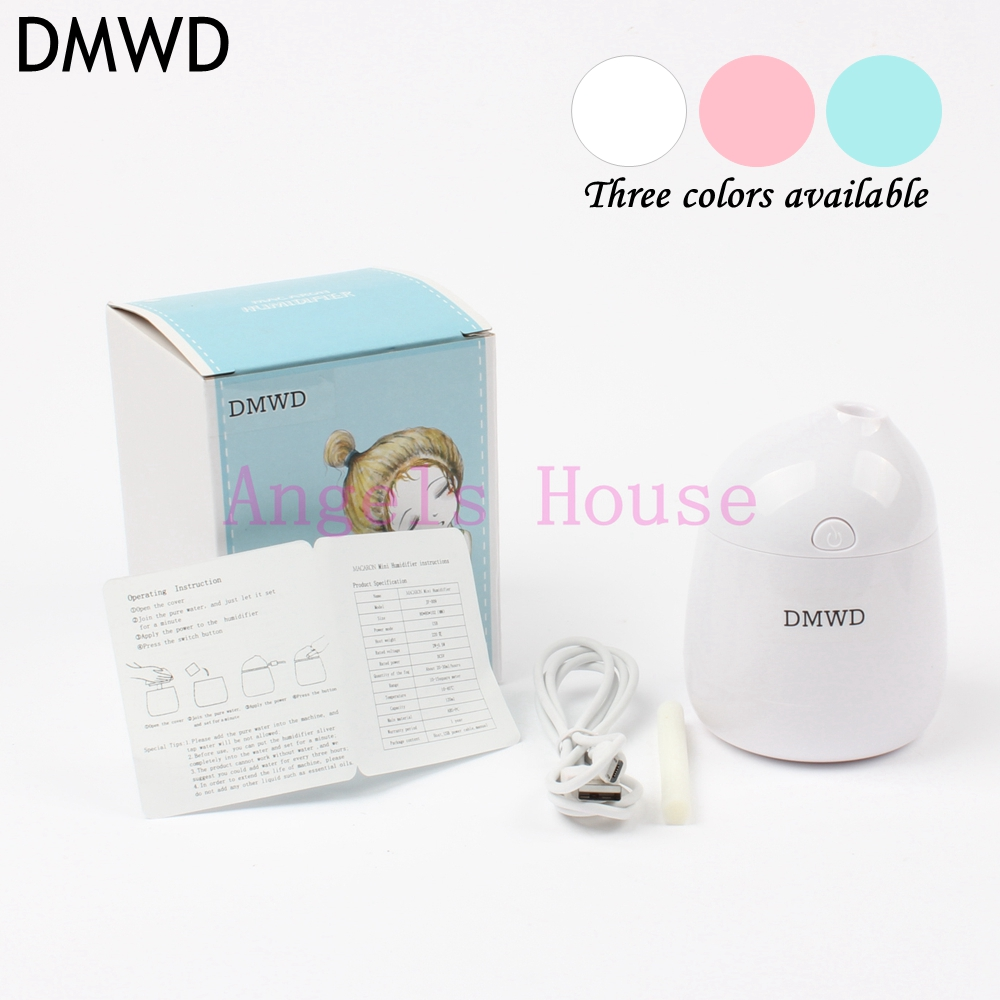 DMWD Household Car electric USB Humidifiers office Aroma Diffuser Cool Mist Humidification Air Purifier 3colors dmwd ultrasonic car air purifier solar energy office household aroma humidifier negative ions remove formaldehyde haze and pm2 5