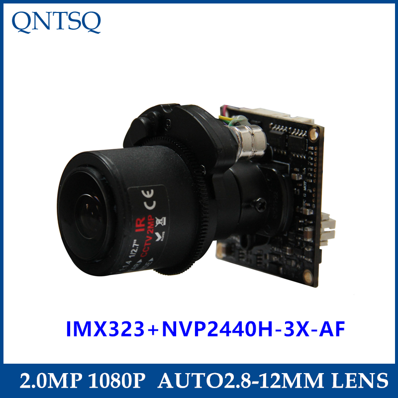 1080P 2.0MP AHD/TVI/CVI/CVBS Motorized 2.8-12mm Zoom & Auto Focal LENs 1/2.8 Sony Exmor IMX323 NVP2440 CCTV camera module board new ahd tvi cvi cvbs 1080p mini ir ptz night vision zoom dome camera zoom lens dome camera with 3x optical zoom 2mp motorized