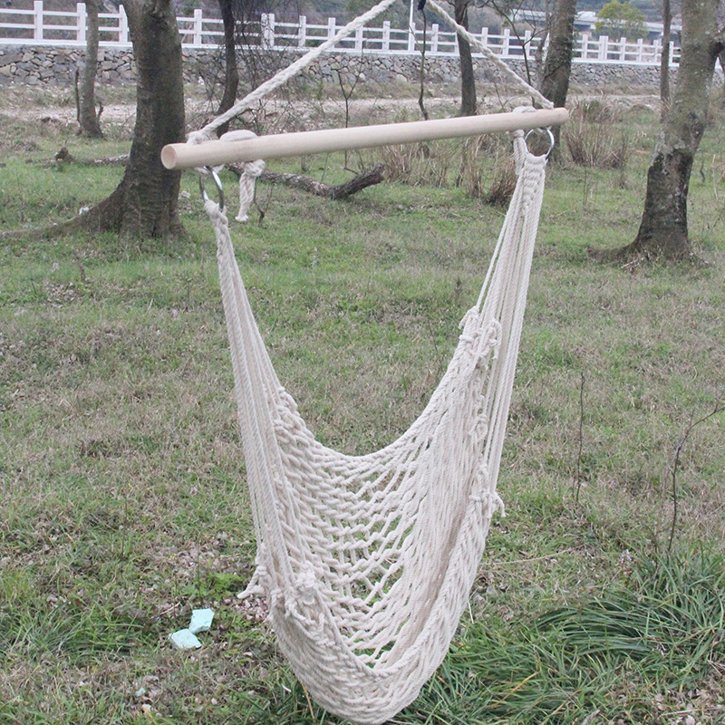 Portable thicken cotton rope mesh hanging chair Student dormitory swing hammock Indoor outdoor children leisure chair 2 people portable parachute hammock outdoor survival camping hammocks garden leisure travel double hanging swing 2 6m 1 4m 3m 2m