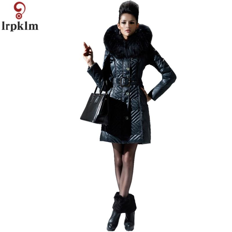 Зимние женские куртки длинный мягкий белый пуховик регулируемой талией зимние пальто с капюшоном роскошные меховые Куртка с воротником То