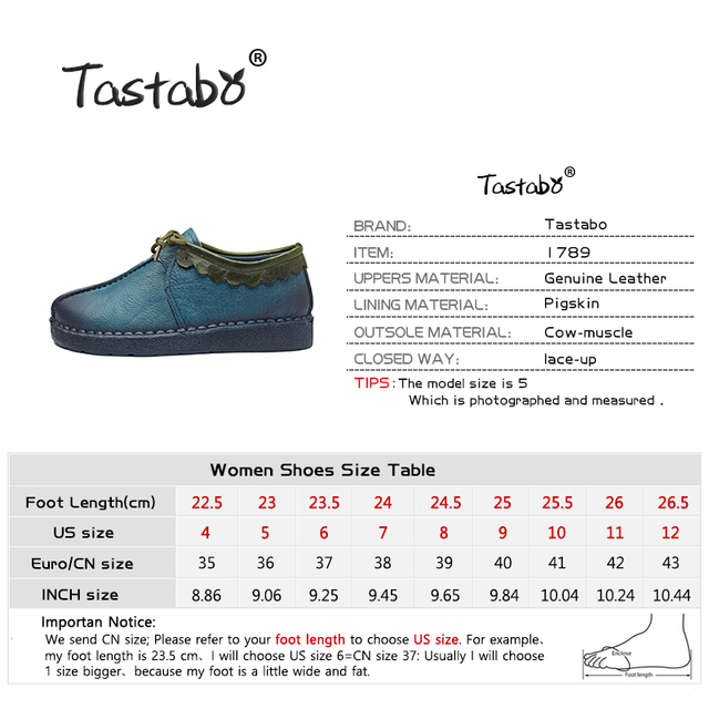 Tastabo Fashion Loafers Women Shoes Genuine Leather Shoes Handmade Soft Comfortable Flat Shoes Woman Casual Shoes Women Flats