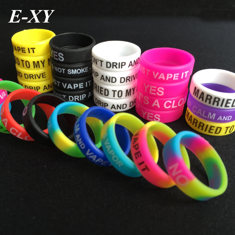 E-XY Newest Non-Skid MOD Silicone Ring Electronic Cigarette Silicon Vape Ring For Mechanical Mods E Cig Silicone Rings for vape